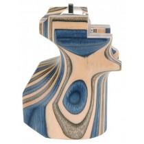 Poignée en bois lamellé bleu Taille M