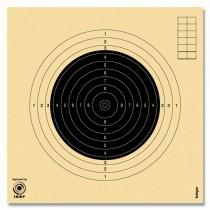 Cible KRÜGER carabine 50m - 20x20cm - Modèle compétition - Numérotée
