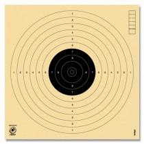 Cible KRÜGER pistolet à air comprimé 10m. Numérotées