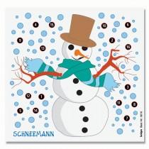 Cible détente en couleur KRÜGER - Bonhomme de neige