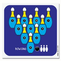 Cible détente en couleur KRÜGER - Bowling